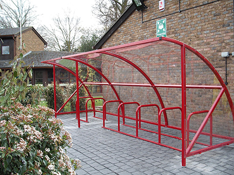 6m Steel Brabin Shelter 14 cycles