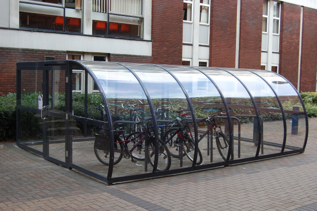 6m x 4.5m Manchester Cycle Shelter 20 Cycles (2)
