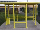 Yellow Smoking Shelter