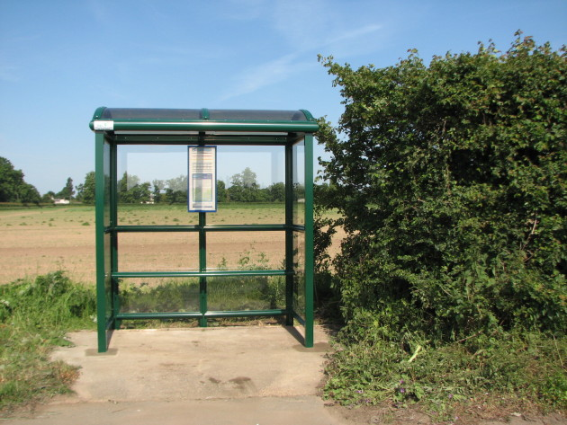 2 Bay Bus Shelter with Full End Panels