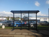 3 Bay Cantilever Bus Shelter